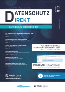 Robin Data Magazine Privacy Policy Direct Cover Issue 02/20