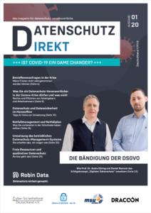 Robin Data Magazine Data Protection Direkt Magazine Issue 01/20