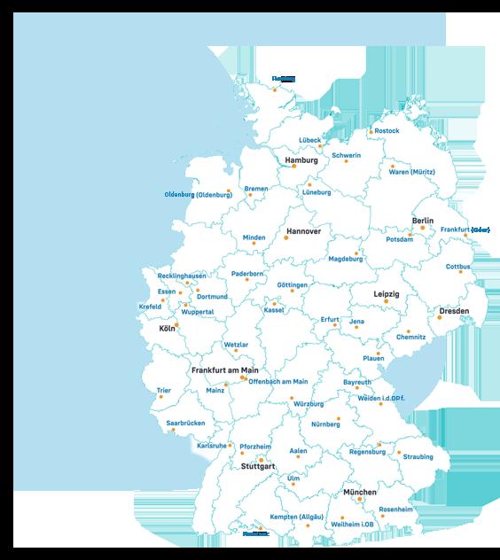 Karte Robin Data Partner-Netzwerk