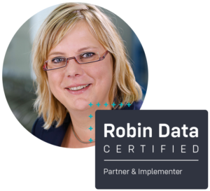 Cornelia Lünsmann ist certified Robin Data Partner & Implementer