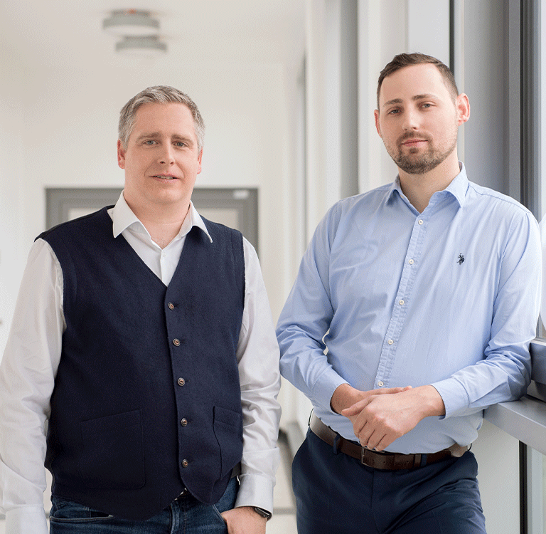 Prof. Dr. Andre Döring and Daniel Ramsch, Managing Director of Robin Data GmbH
