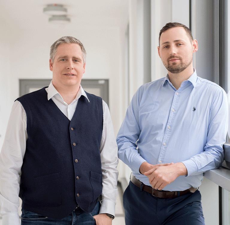 Prof. Dr. Andre Döring und Daniel Ramsch, Geschäftführer der Robin Data GmbH